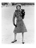 Christian Dior Tweed Suit with Cap and Scarf  1961