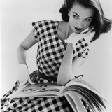 Helen Bunney in a Dress by Blanes, 1957 Reproduction d'art par John French