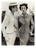Fiona Campbell-Walter and Anne Gunning in Tailored Suits  1953