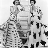 Susan Abraham in Brilkie Dress and June Clarke in Baker Sportswear  1954
