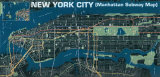 Manhattan Subway Map Reproduction d'art