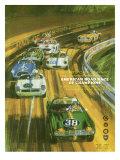Vintage Sports Car Road Race Poster