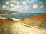 Chemin dans les blés à Pourville Reproduction d'art par Claude Monet