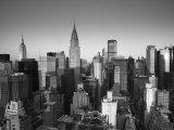 Chrysler Building and Midtown Manhattan Skyline  New York City  USA