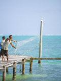 Net Fishing  Caye Caulker  Belize
