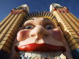 The Smiling Face Entrance to Luna Park at Lavendar Bay on Sydney North Shore  Australia