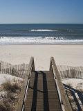 New York  Long Island  the Hamptons  Westhampton Beach  Beach View from Beach Stairs  USA