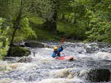 Gwynedd  Bala  White Water Kayaking on the Tryweryn River at the National Whitewater Centre  Wales