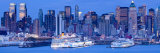 New York City  Manhattan  Panoramic View of Mid Town Manhattan across the Hudson River  USA
