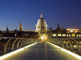 St Pauls Cathedral Seen across the Millennium Bridge