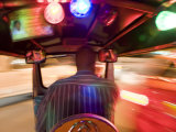 Tuk Tuk or Auto Rickshaw at Night  Bangkok  Thailand