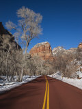Utah  Zion National Park  Zion Canyon Scenic Drive  Winter  USA