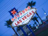 Nevada  Las Vegas  Welcome to Fabulous Las Vegas Sign  Defocussed  USA