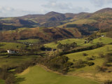 View from Castell Dinas Bran Towards Llantysilio Mountain and Maesyrychen Mountain  Wales