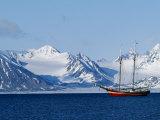 Noordelicht at Anchor Off the West Coast of Spitsbergen