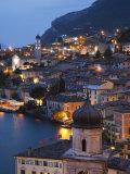 Lombardy  Lake District  Lake Garda  Limone Sul Garda  Aerial Town View  Italy