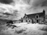 Infrared Image of a Derelict Farmhouse Near Arivruach  Isle of Lewis  Hebrides  Scotland  UK