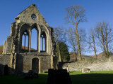 Denbighshire  Llangollen  the Striking Remains of Valle Crucis Abbey  Wales