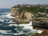 The Sandstone Cliffs of Gap - an Ocean Lookout Near the Entrance to Sydney Harbour  Australia