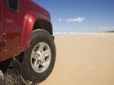 Queensland  Fraser Island  Four Wheel Driving on Sand Highway of Seventy-Five Mile Beach  Australia