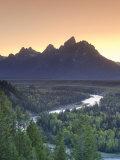 Snake River Overlook and Teton Mountain Range  Grand Teton National Park  Wyoming  USA