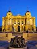 Croatian National Theatre Neobaroque Architecture  Ivan Mestrovic's Sculpture Fountain of Life