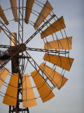 Erongo Region  Okahandja  the Fins of a Windmill Highlighted by the Setting Sun  Namibia