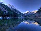 Colorado  Maroon Bells Mountain Reflected in Maroon Lake  USA