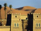 Merzouga a Desert Kasbah Backing onto Giant Sand Dunes of Erg Chebbi in Eastern Morocco  Morocco