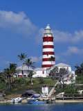 Lighthouse at Hope Town on the Island of Abaco  the Bahamas