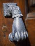 Door Knocker on a House in the Small Hill Top Village of Briones