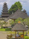Man Reading at Besakih Temple  Bali  Indonesia  Southeast Asia  Asia