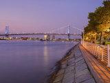 Camden Waterfront and Ben Franklin Bridge  City of Camden  New Jersey