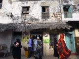 The Narrow Streets of Lamu Town  Lamu  Kenya  East Africa  Africa