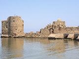 Crusader Sea Castle  Sidon  Lebanon  Middle East