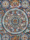 Mandala on a Tibetan Thangka  Bhaktapur  Nepal  Asia