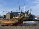 Fishing Boats on Pebble Beach at Hastings  Hastings  Sussex  England  United Kingdom  Europe