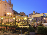 People in a Restaurant  Taormina  Sicily  Italy  Europe