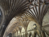 Vaulted Ceiling in the Cloister  Canterbury Cathedral  Canterbury  Kent