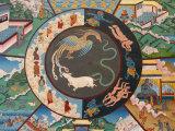 Wheel of Life Showing Rooster  Snake and Pig  Kopan Monastery  Kathmandu