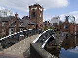 Canal Near the Sea Life Centre  Birmingham  England  United Kingdom  Europe
