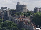 Aerial View  Windsor Castle  Windsor  Berkshire  England  United Kingdom  Europe