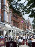 Lord Street  the Main Street of Southport  Merseyside  England  United Kingdom  Europe