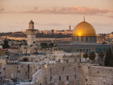 Dome of the Rock and the Western Wall  Jerusalem  Israel  Middle East