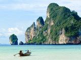 Fishing Boat on Ko Phi Phi Island  Andaman Sea  Thailand  Southeast Asia  Asia