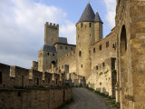 Walled and Turreted Fortress of La Cite  Carcassonne  Languedoc