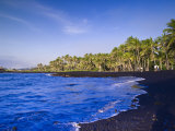 Punaluu Black Sand Beach  Big Island  Hawaii  United States of America  Pacific  North America
