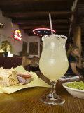 Margarita and Nachos at Maria's Bar and Restaurant  Santa Fe  New Mexico
