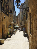 Street in the Medieval Old Town of Sarlat  Dordogne  France Europe