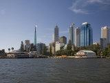 City Centre from the Swan River  Perth  Western Australia  Australia  Pacific